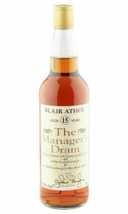 Blair Athol 15 Year Old, The Manager's Dram 1996 Bottling